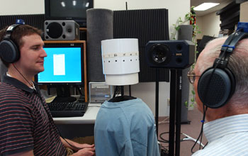 students with the recording array