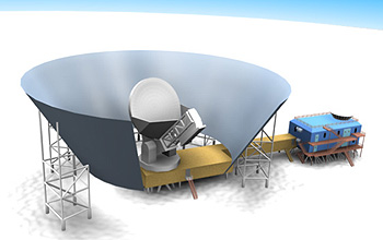 Still from South Pole telescope animation
