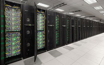 Photo of the super computer stampede