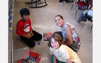 Photo of students participating in the STOMP program.