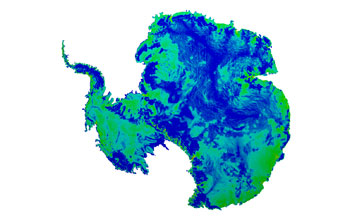 Multimedia Gallery - A simulation of an Antarctic ice sheet using ...
