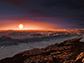 artist's impression shows a view of the surface of the planet Proxima b
