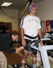 Signals can be used to study the cortical dynamics of walking and develop brain-machine interfaces.