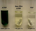 Three tubes containing substances labeled ATRP, New ERA ATRP and FRP.