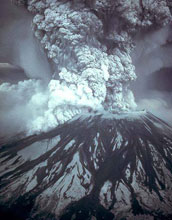 Image of the eruption of Mount St. Helens in 1980.