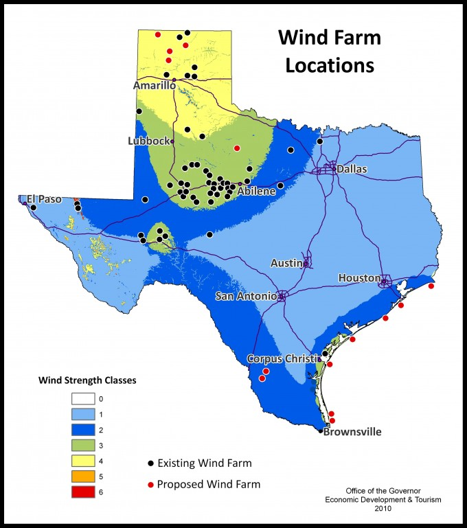 Wind Map Texas