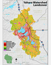 The Yahara watershed encompasses marshes and lakes, prairies and forests.