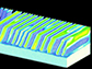 tiny sections of material with the same electric polarization