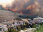 image of fires burning in Portola Hills, Calif