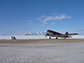 DC-3 aircraft stationed on the Quaanaaq airfield
