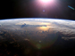 a view of Earth�s atmosphere