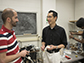 Ethan Kung works in a Clemson University lab with two of his Ph.D. students