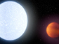 the giant gassy planet KELT-9b (right)