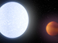 artist illustration of star KELT-9 and its ultra-hot planet KELT-9b