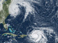 hurricanes Jose (top) and Maria