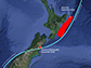 Kaik�ura earthquake (marked by a red star) triggered a slow slip event