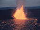 a fountain of lava erupts from Hawaii's Kilauea Iki crater