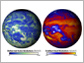 images of earth showing reflected solar radiation