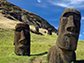 monumental moai sculptures