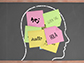 head with hello post-it notes written in different languages