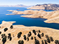 San Luis Reservoir in California's Merced County