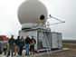 members of the SEA-POL team with the radar