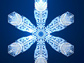 computer-generated snowflake