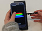 the spectral transmission-reflectance-intensity analyzer attached to a smartphone