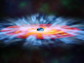winds of gas swirling around a black hole