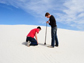 students take a groundwater sample at White Sands