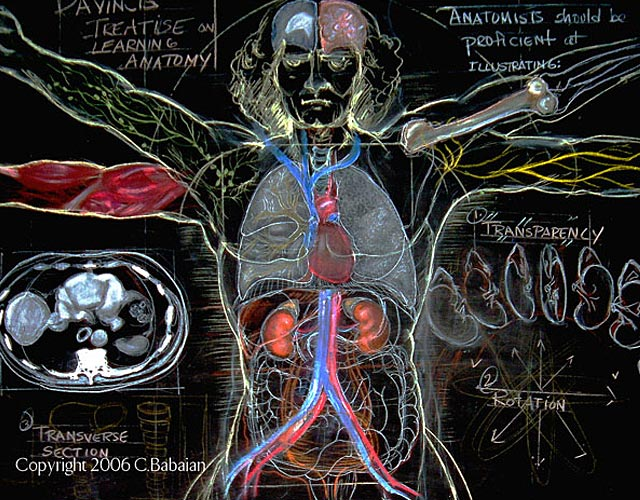A DaVinci Blackboard Lesson in Multi-Conceptual Anatomy