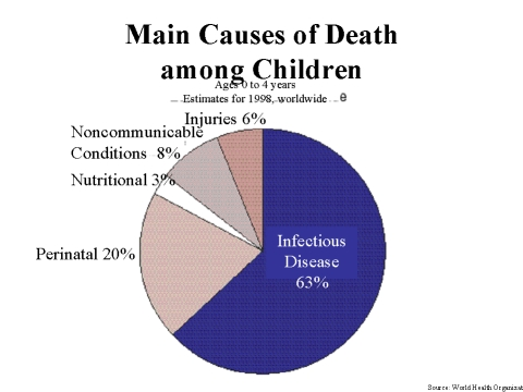 WHO graph-Main Causes of Death Among Children