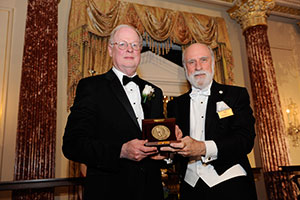 Image of Duderstadt and Cerf with Award Metal