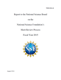 Report to the NSB on the National Science Foundation's Merit Review Process Fiscal Year 2015 - Slide2