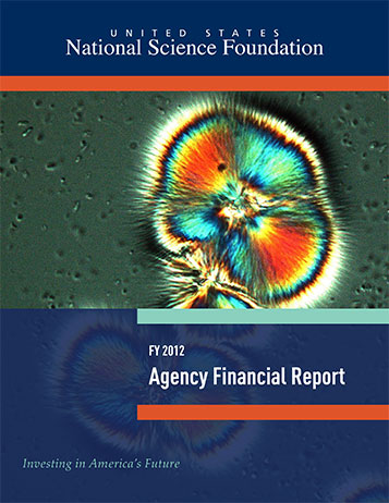 National Science Foundation FY 2012 Agency Financial Report Cover
